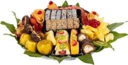 מגש פירות משולב סושי פירות / שוקולד
